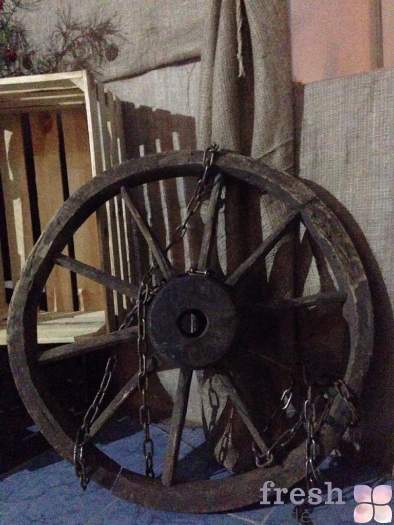 колеса телеги коричневые в прокат