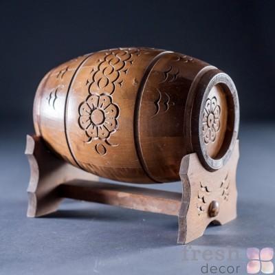боченок из дерева декоративный 2