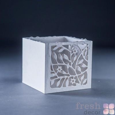 коробочка белая под свечу 1