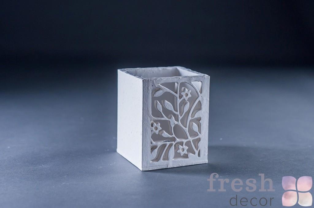 коробочка белая под свечу 2