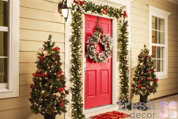 оформление домов на праздник