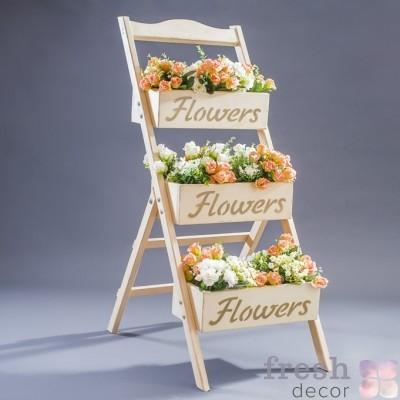 полочка для цветов из дерева