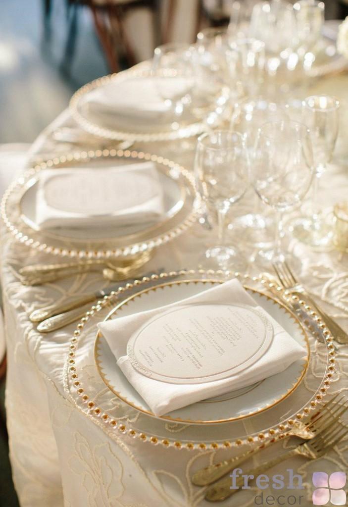 тарелка подстановочная золото 1