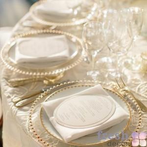 тарелка подстановочная золото