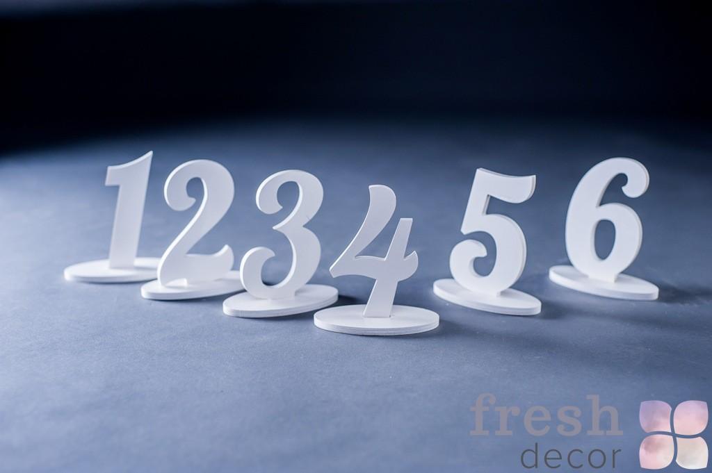 белые номерки на стол в аренду