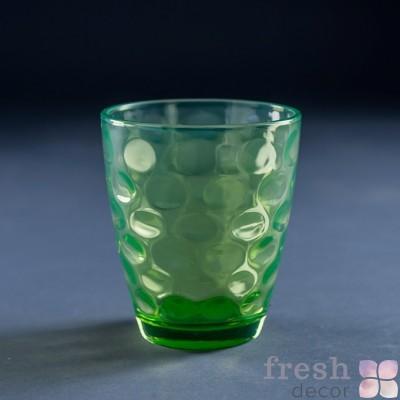 бокал из стекла в прокат зеленый