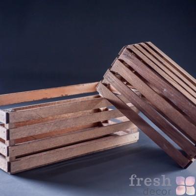 деревянные ящички в аренду из натурального дерева