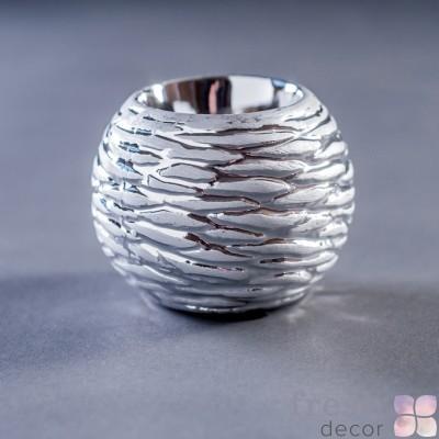 керамический круглый подсвечник