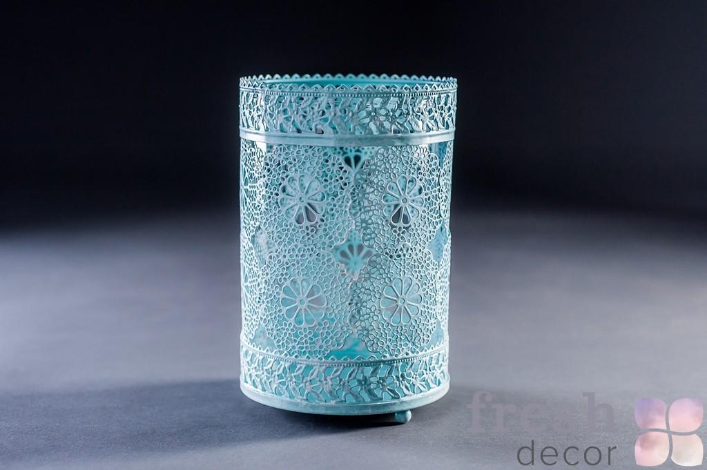 Подсвечник стакан кружевной