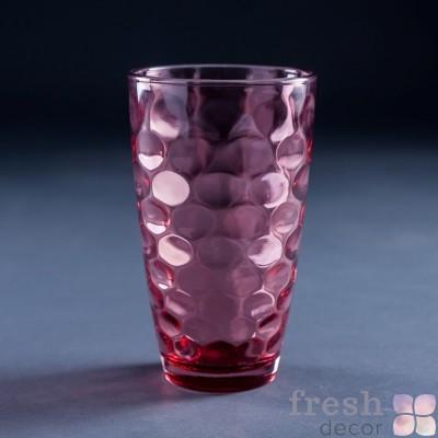 стакан из розового стекла прокат