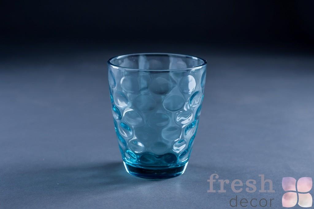 Стакан из цветного стекла синий