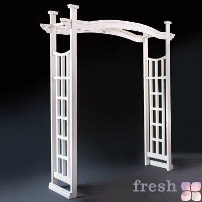 прокат белой арки из дерева на свадьбу