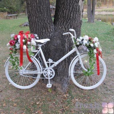 белый велосипед в прокат