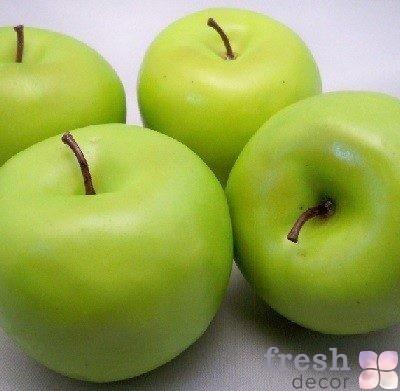 4-больших-искусственных-зеленые-яблоки-фрукты