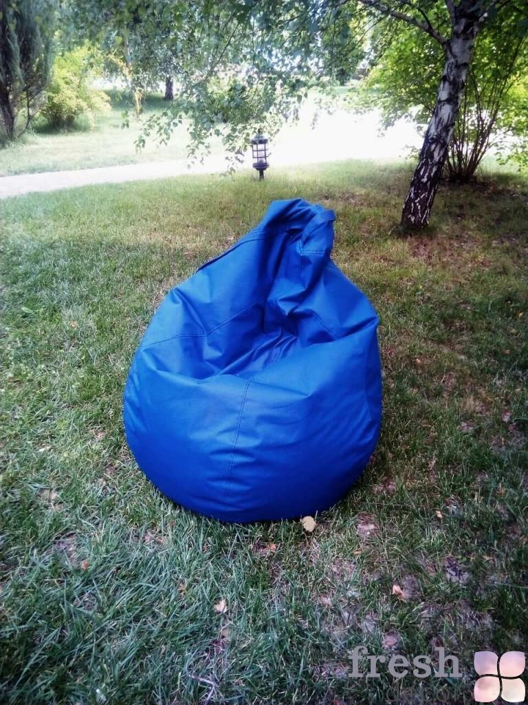 бескаркасное кресло голубое в аренду