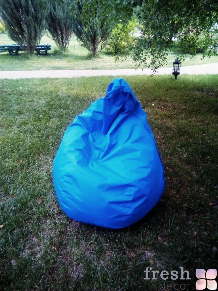 бескаркасное кресло синее в аренду