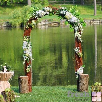 арка на свадьбу эко