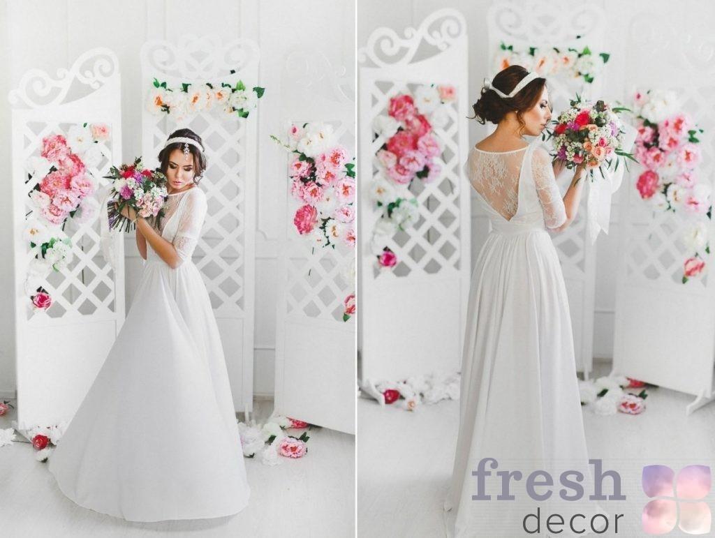 ширма свадебная из фанеры с вензилями в аренду
