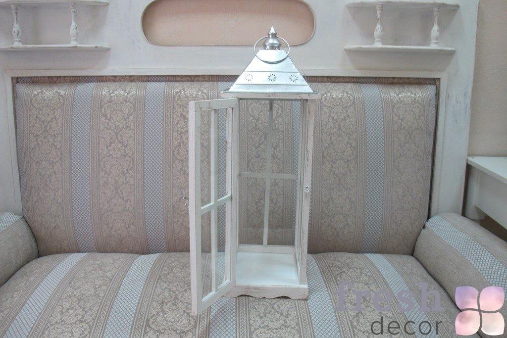 белый декоративный фонарь 1
