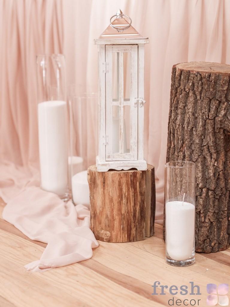 Фонарь для свеч с патиной из дерева в аренду