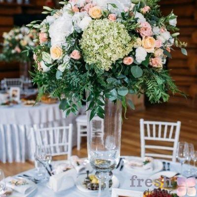ваза большая для цветов из стекла 80 см