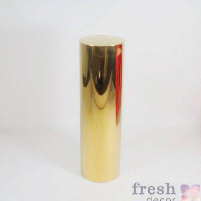 podstavka cilindr iz zolotogo metalla dlya dekora vysokij