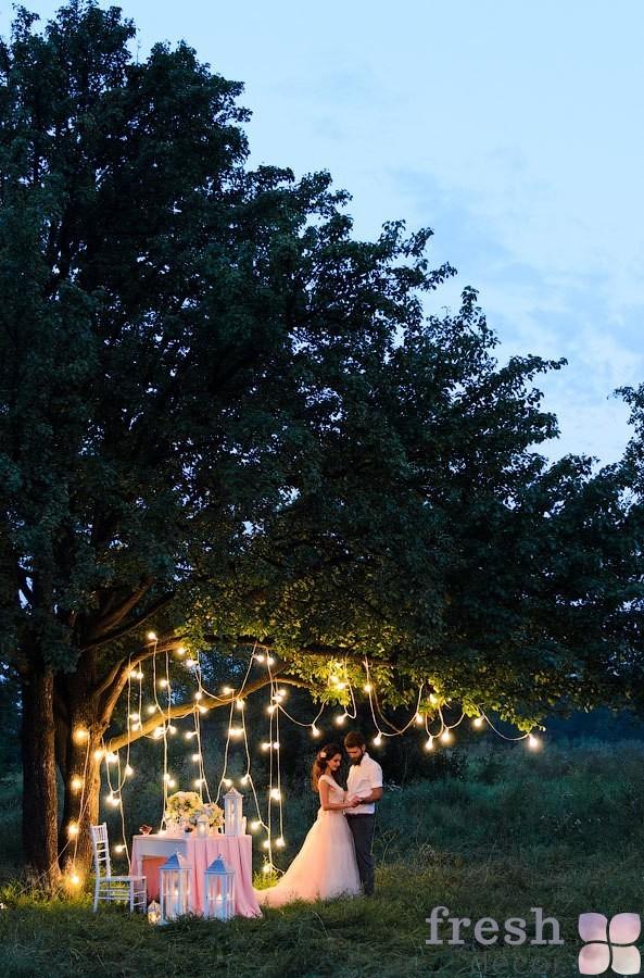 вечерняя фотозона на свадьбу