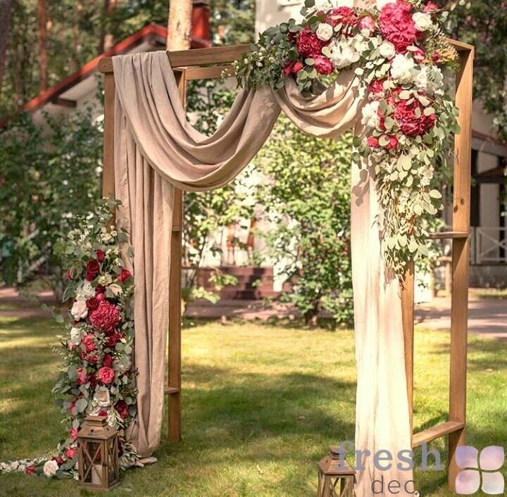 Арка свадебная деревянная