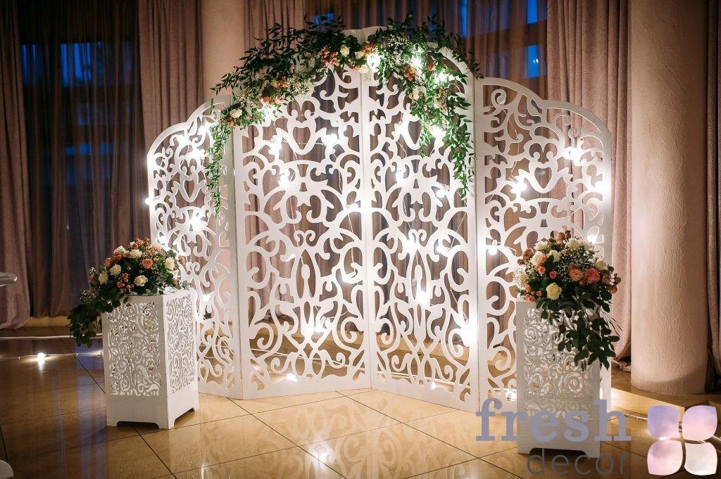 белая арка на свадьбу