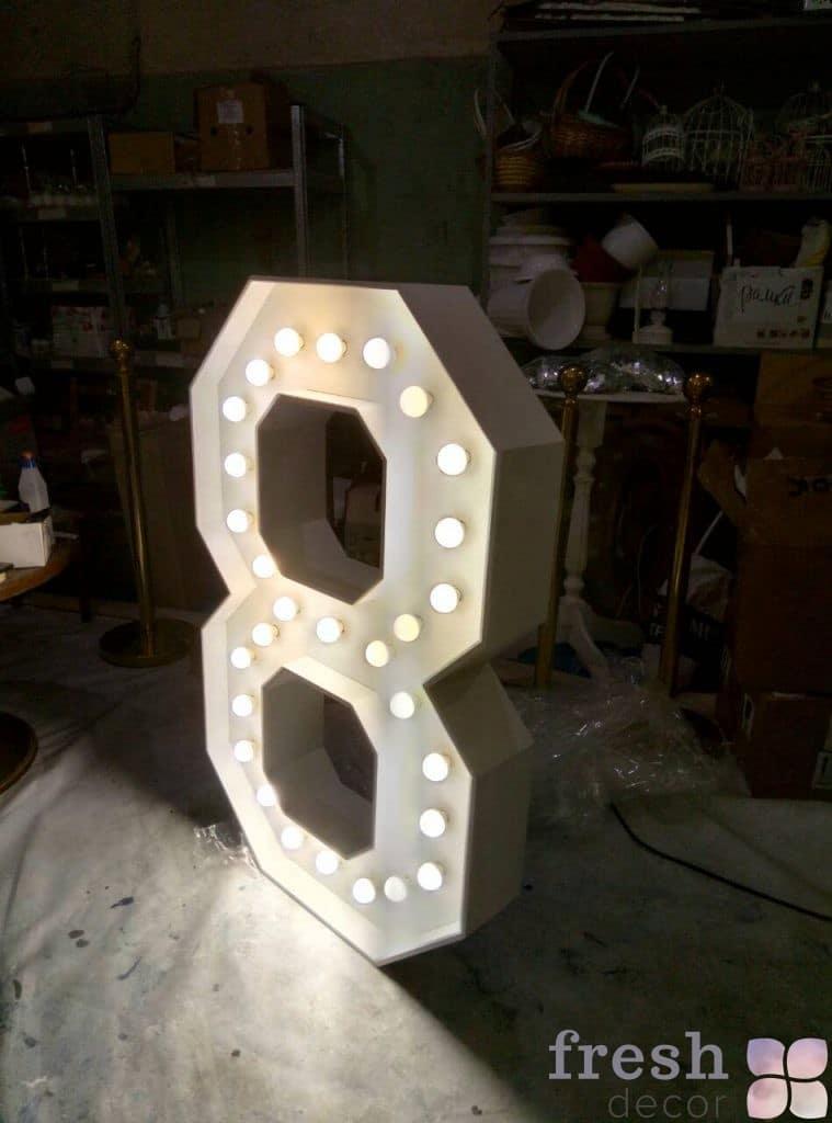буква светящаяся под заказ