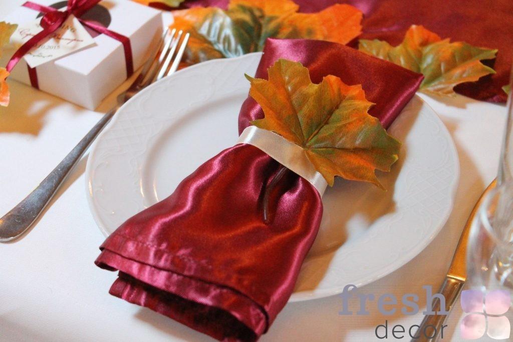 осенние листья из пластмассы в прокат