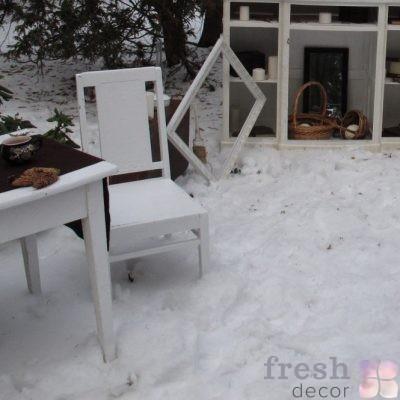 ретро стул белый
