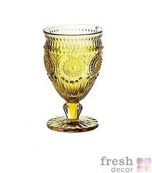 бокал золотой из стекла в аренду