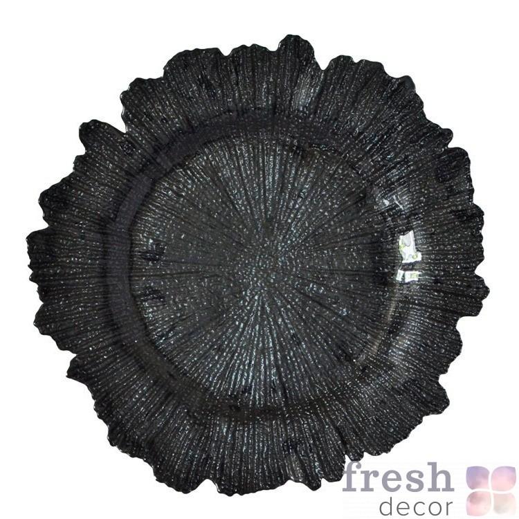 Черная подстановочная тарелка