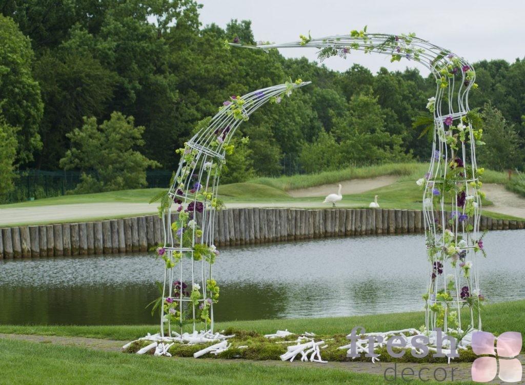 kreativnaya arka na svadbu