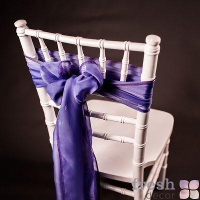 бант на стул цвет фиолетовый