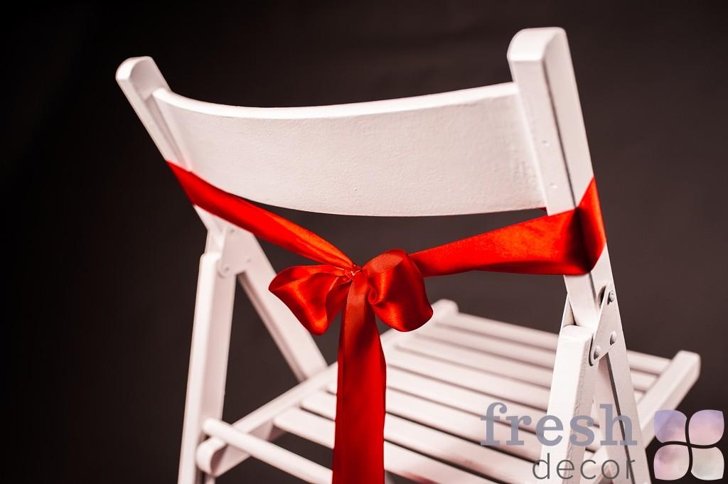 лента на стул алый красный цвет