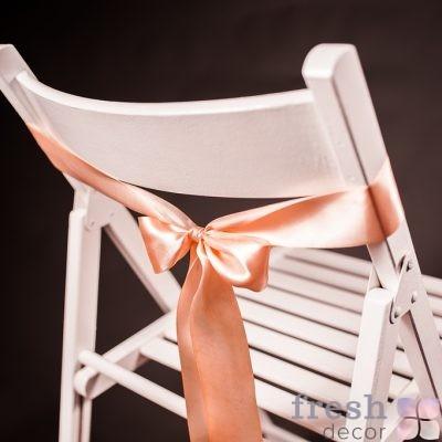 лента на стул бежевого цвета