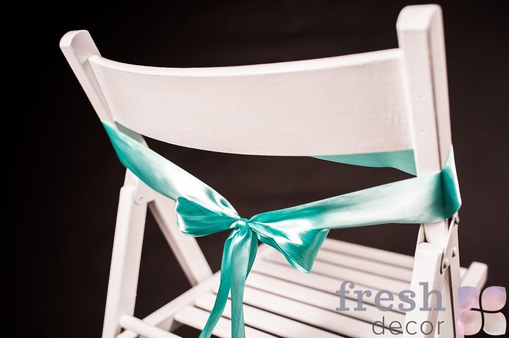 лента на стул мятного цвета тонкая