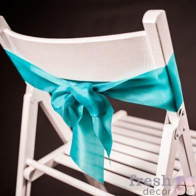 лента на стул мятного цвета