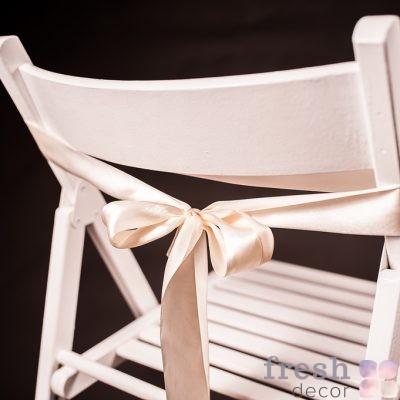 лента на стул светлая