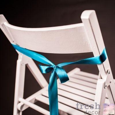 лента на стул синего цвета тонкая