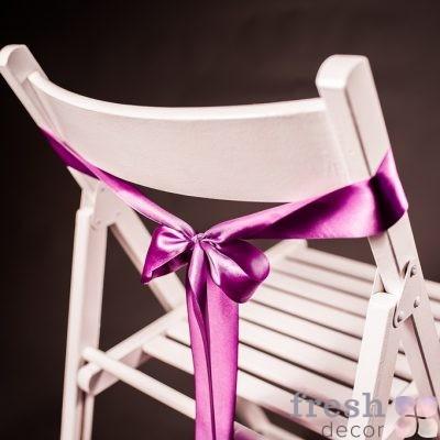 лента на стул сиреневого цвета