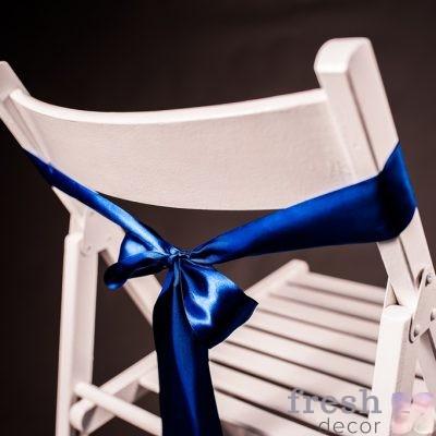 лента на стул темно синего цвета 1