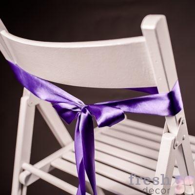 лента на стул фиолетового цвета