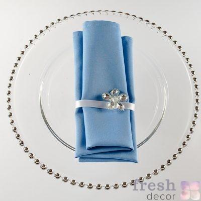 салфетка голубого цвета