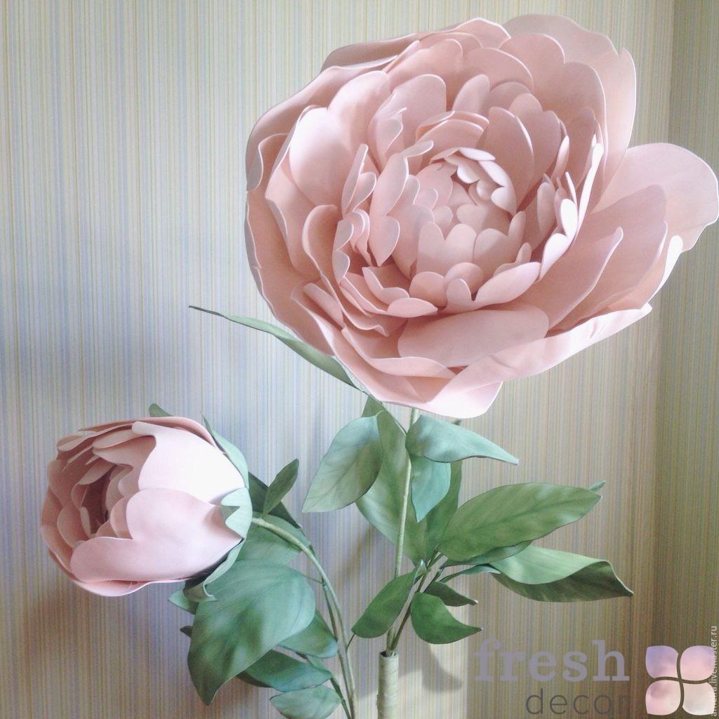 Цветы гиганты из изолона фото
