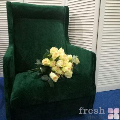 кресло зеленое в прокат
