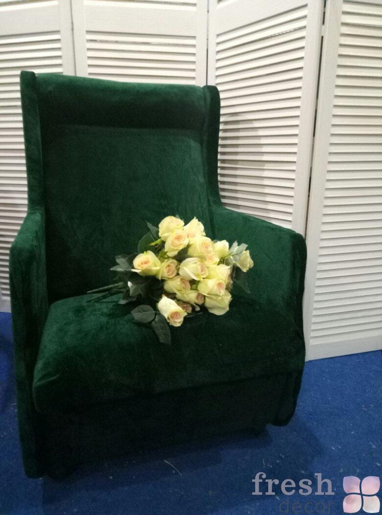 кресло зеленое