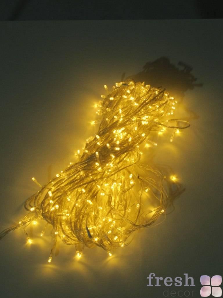 girlyanda svetodiodnaya dlya svetovogo dekora teplogo sveta 28 metrov v prokat
